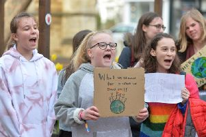 The campaigners in the town centre. PICTURE: ANDREW CARPENTER