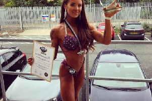 Hannah Butler from Corby is a new woman since she started bodybuilding