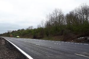 100 tonnes of tarmac was used to resurface the M1 after the fire. Pic via '@HighwaysEMIDS