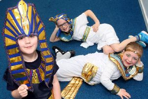 Ancient Egyptians Day at Glebe Primary School in Southwick. Photo by Derek Martin DM1931542a