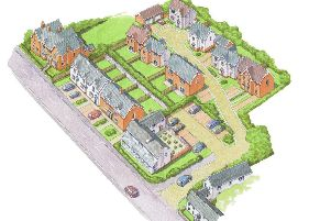 An artist's impression of what the planned redevelopment will look like on the site of The Fox Inn pub at Thorpe Satchville EMN-190417-085440001