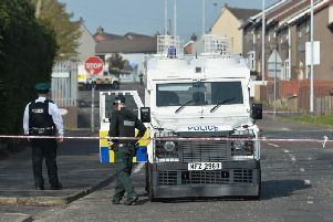 The scene close to where Lyra McKee was killed. (Photo: Pacemaker)