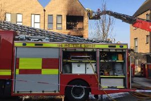 The flat was gutted by the blaze