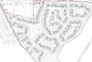 The proposed layout for the 158 home development.