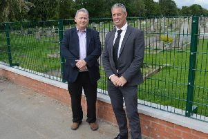 Cllr Phil King and Terry Downes, Senior Operations Manager at Willmott Dixon