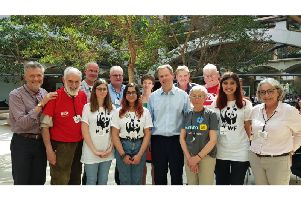 The campaigners with Neil O'Brien MP in Westminster