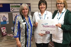 Marion Lewis; Home Insteads community support representative, Georgina Tymms; technical service therapist at St Lukes Hospital and Suzanne Lambert; occupational therapist at St Lukes Treatment Centre