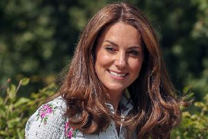 The Duchess Of Cambridge during a visit to the 'Back To Nature' Festival at RHS Garden Wisley, in Woking, Surrey