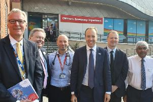 Neil OBrien meeting Health Secretary Matt Hancock and board members of the hospital trust