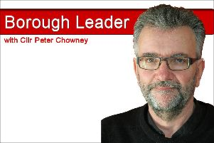 The Borough Leader with Cllr Peter Chowney