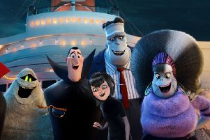 Vlad (voiced by Mel Brooks), Murray the Mummy (Keegan-Michael Key), Invisible Man (David Spade), Dracula (Adam Sandler), Mavis (Selena Gomez), Frank (Kevin James) and Eunice (Fran Drescher) PHOTO: PA Photo/Sony Pictures Animation EMN-180730-094747001