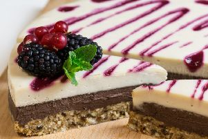 Vegan bramble cheese cake from Stem + Glory