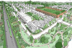 An artist's impression of the proposed regeneration plans