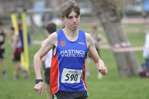 Under-17 men's race winner George Pool. Pictures by Simon Newstead