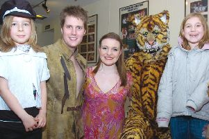 Children meeting stars of Tales from the Jungle Book at Blackfriars Theatre and Art Centre 10 years ago.