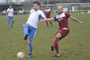 Action from Little Common's last home game, against Newhaven, two weeks ago. Picture by Simon Newstead