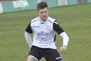 Sammy Bunn clipped the crossbar with a late free kick during Bexhill United's 1-0 defeat to Selsey