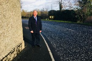 DUP MLA William Irwin at Legacorry Road Corner Richhill