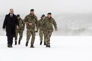 The Duke of Sussex, visited Commando Helicopter Force. Photo: Royal Navy