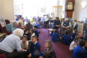Ninety children, over three days, have been chatting with residents at St. Christopher's Home in Abington Park Crescent to find out about their past.