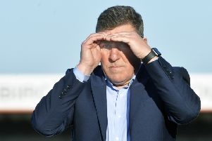 Eastbourne Borough manager Mark McGhee watches his side against Wealdstone in his first game in charge at Priory Lane (Photo by Jon Rigby) SUS-190225-105949008