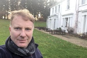 Nick Cobden Wright in front of Dunford House