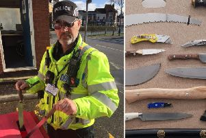 Two knives have already been thrown away at a Northampton knife amnesty bin.