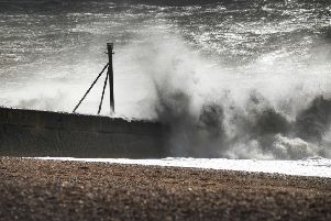 High winds on the 10th March 2019. Photos taken in Hastings and St Leonards. SUS-191003-121858001