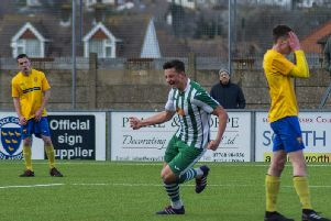 Emmett Dunn celebrates his debut Chi City goal / Picture by Daniel Harker