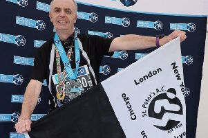 Dwyer O'Connor who has completed six Major Marathons and raised �28k for the Southern Area Hospice