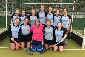 The South Saxons Hockey Club ladies' first team which is on the cusp of clinching the Sussex Ladies' League Division One title