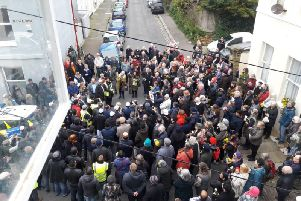 The vigil at Hastings mosque