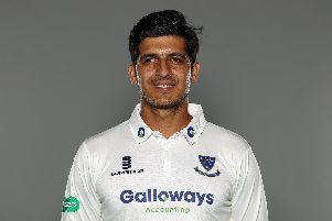 Mir Hamza in his new Sussex shirt / Picture by Getty Images