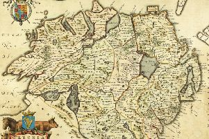 Map showing Ulster at the beginning of the seventeenth century