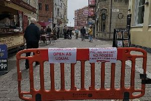 Station Road, Hastings, has partially reopened to pedestrians SUS-191204-111924001