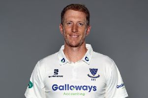 Luke Wells scored 98 not out at Durham / Picture by Getty Images