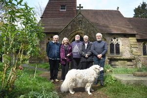 Lead stolen from the roof of Church in the Wood, Hollington.''L-R Rev Ron Baker, and church wardens Ann Weiner, Andrew Beaumont, Gary Austin and Richard Weiner. SUS-190415-082149001