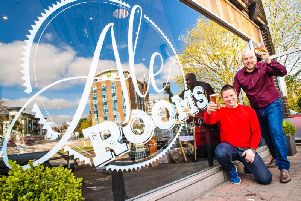 Owners Mark Caldicott (left) and Craig Woodley toast the launch of the new Ale Rooms and Gin Bar in Kenilworth. Photo submitted.