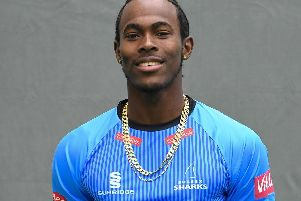 Sussex star Jofra Archer. Picture by PW Sporting Photography