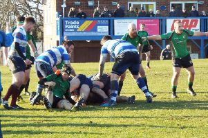 Hastings & Bexhill on the attack during their semi-final victory over Heathfield & Waldron. Picture courtesy Peter Knight