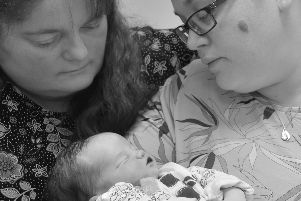 Helen left and Beth with baby Isaac - photographer was Kate Henwood from the charity Remember My Baby