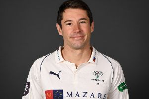 Andrew Hodd has signed for Bexhill Cricket Club. Picture courtesy Gareth Copley/Getty Images