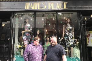 Robbie Clark and Ady Maylam outside Mames Place in George Street