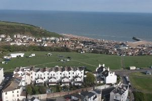 A photo from the West Hill shortly before the drone lost connection. Picture supplied by Joe Hannon
