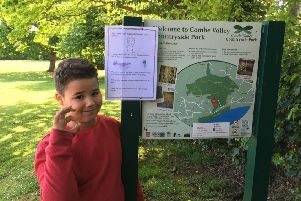 Vincent Poyser said he was disgusted by the amount of dog poo in Combe Valley Country Park SUS-190513-160812001