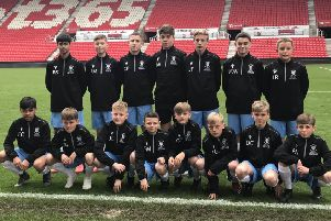 The South East Sussex team on the pitch at Stoke City's bet365 Stadium
