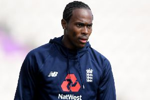 Sussex and England star Jofra Archer. Picture courtesy of Getty Images.