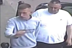 Police believe these men could help with enquiries into the theft.