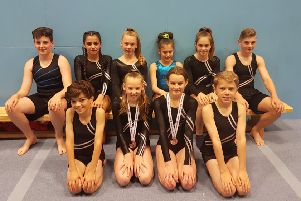 The Hollington Gymnastics Club competitors at the English Championships