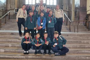 The 6th Hastings Scouts on a recent trip to London SUS-190506-132035001